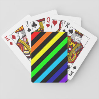Rainbow Stripes Classic Playing Cards