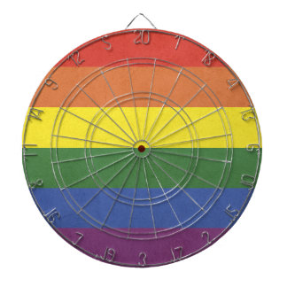 Rainbow stripes dartboard