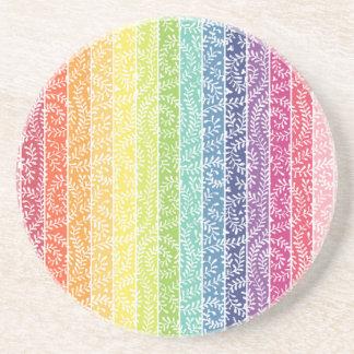 Rainbow Stripes Drink Coasters