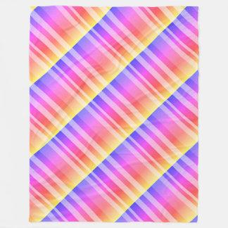 Rainbow Stripes Fleece Blanket