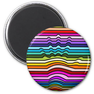Rainbow Stripes Hand Magnet