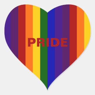 Rainbow Stripes Heart Sticker