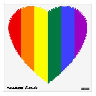 Rainbow Stripes Heart Wall Sticker
