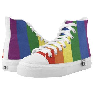 Rainbow stripes high tops