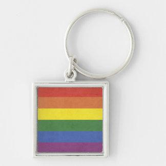 Rainbow stripes keychain