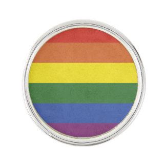 Rainbow stripes lapel pin