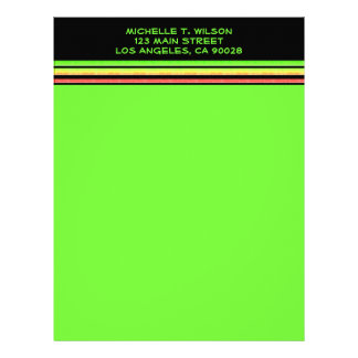 rainbow stripes letterhead