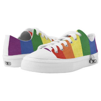 Rainbow stripes Low-Top sneakers