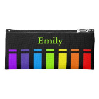 Rainbow Stripes Monogram Pencil Case