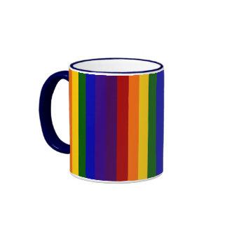 Rainbow Stripes Coffee Mugs