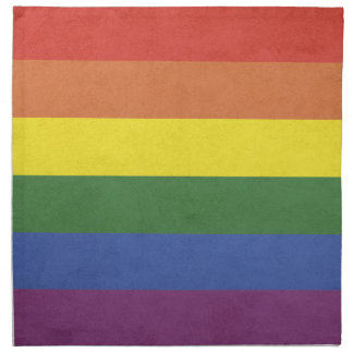 Rainbow stripes napkin