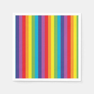 Rainbow Stripes Napkins Disposable Napkins