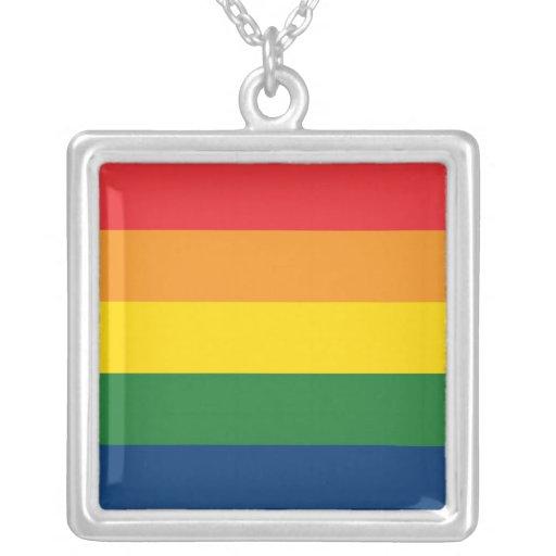 Rainbow Stripes Custom Jewelry