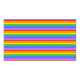 Rainbow Stripes Pattern. Business Cards