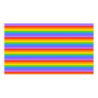 Rainbow Stripes Pattern. Business Card