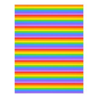 Rainbow Stripes Pattern. Customized Letterhead