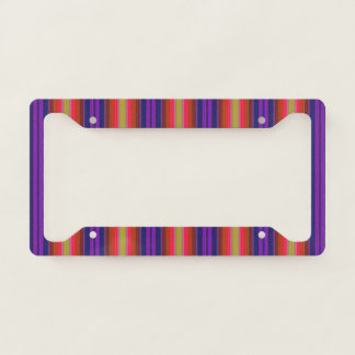 Rainbow Stripes Pattern License Plate Frame