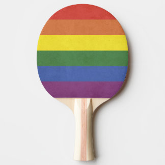 Rainbow stripes ping pong paddle