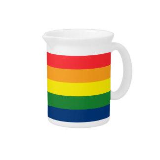 Rainbow Stripes Drink Pitcher