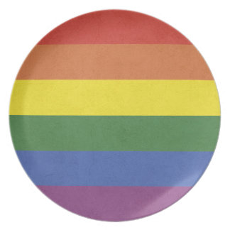 Rainbow stripes plate