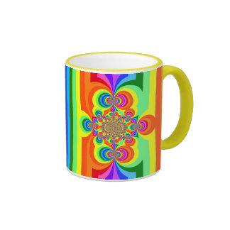 Rainbow Stripes, Polar Invesion, Yellow 11oz. Mug!