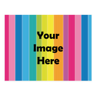 Rainbow Stripes Postcard