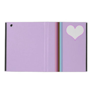 rainbow stripes & purple iPad 2/3/4 Case