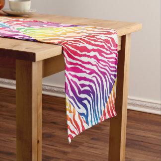 Rainbow Stripes Short Table Runner