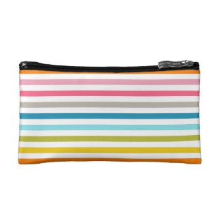 Rainbow Stripes Small Cosmetic and Travel Bag