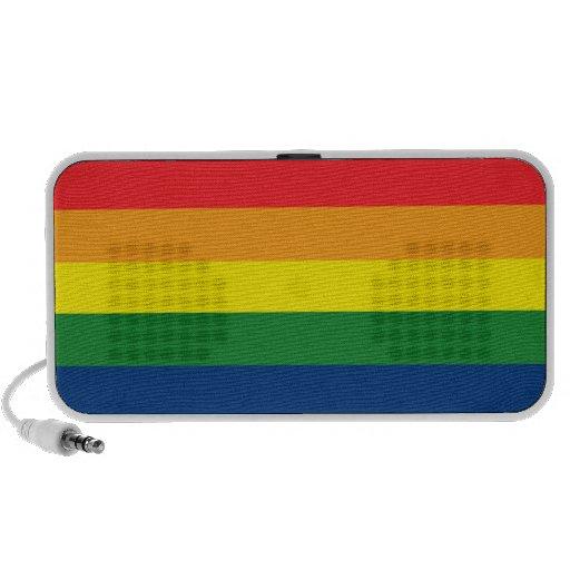 Rainbow Stripes Travel Speakers