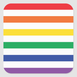 Rainbow Stripes Square Sticker