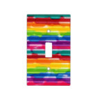 Rainbow Stripes Switchplate Light Switch Cover