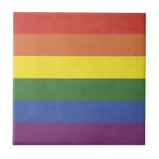 Rainbow stripes tile