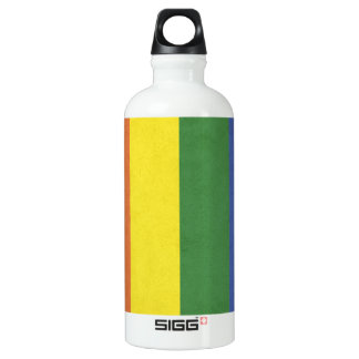 Rainbow stripes water bottle