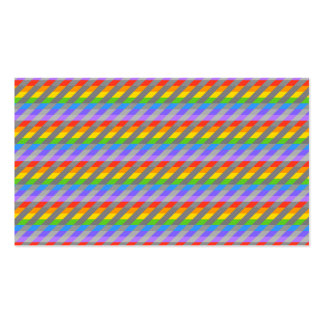 Rainbow Stripes with Gray. Business Card