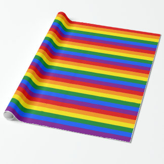 Rainbow Stripes Wrapping Paper
