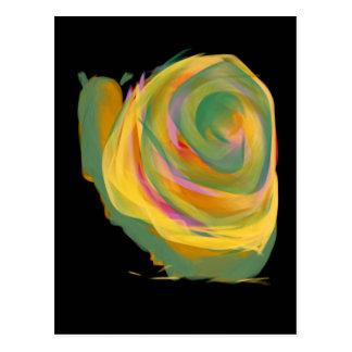 Rainbow Strokes Rosie the Snail Painting Postcard