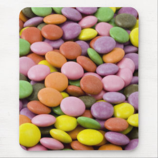 Rainbow sugar candies photograph mouse pad