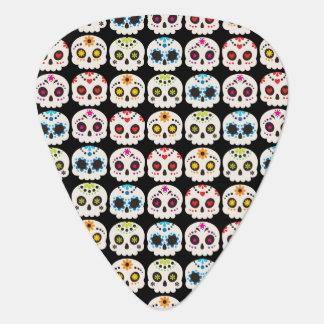 Rainbow Sugar Skull Guitar Pick