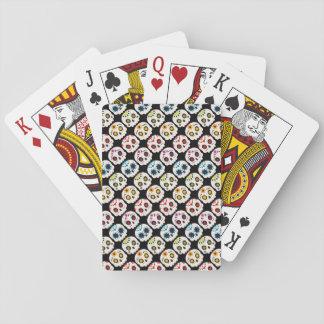 Rainbow Sugar Skull Playing Cards