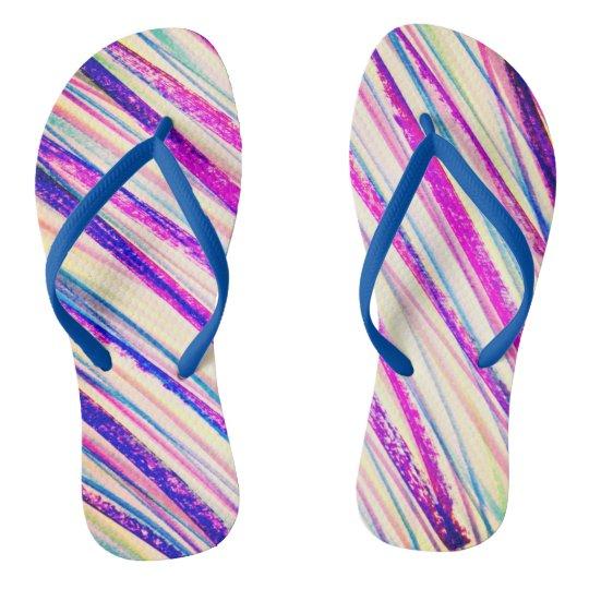 Rainbow Summer Shoe Flip Flops