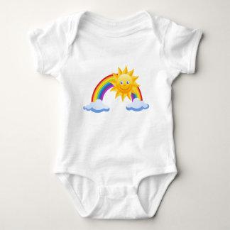 rainbow sun cloud baby bodysuit