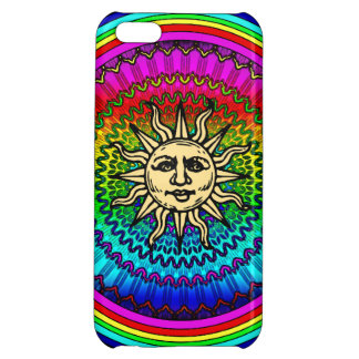 Rainbow Sun iPhone 5C Cases