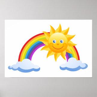 Rainbow Sun Office Personalize Destiny Destiny'S Poster
