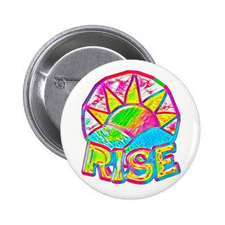 Rainbow Sun Rise ~ Uplifting Message 2 Inch Round Button
