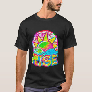 Rainbow Sun Rise ~ Uplifting Message Graphic T-Shirt