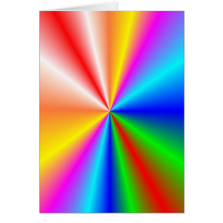 "Rainbow ""sunburst"" background card"