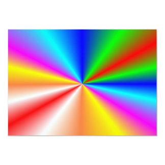 "Rainbow ""sunburst"" background personalized invite"
