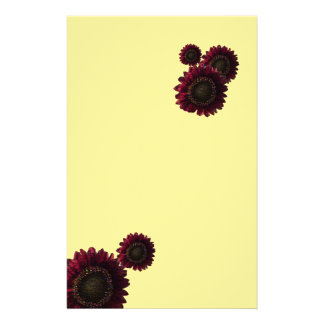rainbow sunflower stationary stationery design