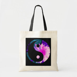 rainbow sunflower yin yang tote bag